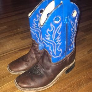 Old West Square Toe Cowboy Boots~size 3